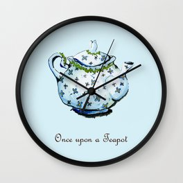 Once Upon A Teapot Wall Clock