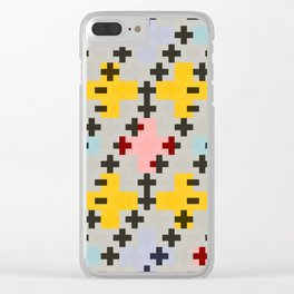 Abstract Cross Pattern Clear iPhone Case