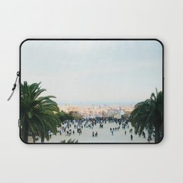 People at Park Güell Laptop Sleeve