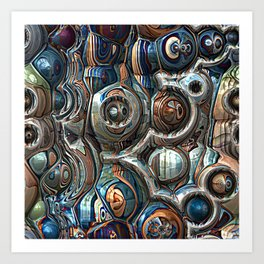 Reflections of Blue And Copper Art Print
