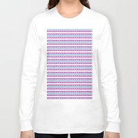 striped Long Sleeve T-shirts featuring Striped Embroidery by Jessie Prints Stuff