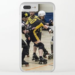 Tyne and Fear on the offense Clear iPhone Case