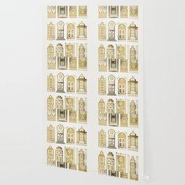 Moroccan Doors – Gold Palette Wallpaper