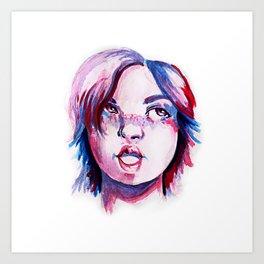 Purpe Girl Art Print