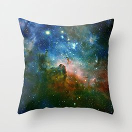 Hidden Secrets of Carina Nebula Throw Pillow