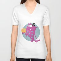 best friends V-neck T-shirts featuring Best Friends by jelena1001