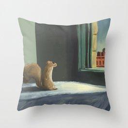 Sunday Morning Squirrel Throw Pillow