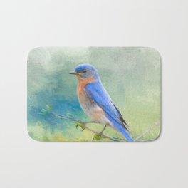 Bluebird In The Garden Bath Mat