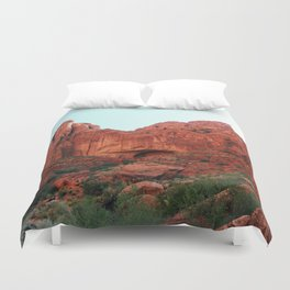 Red rocks Duvet Cover