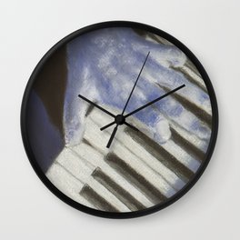 Piano blues man Wall Clock