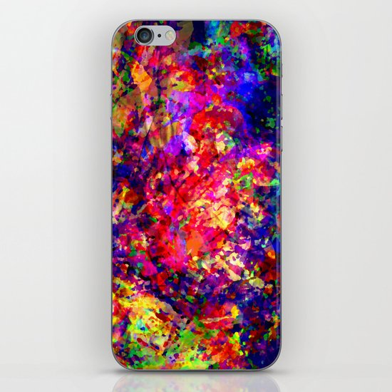 abstract tropical flowers iPhone & iPod Skin