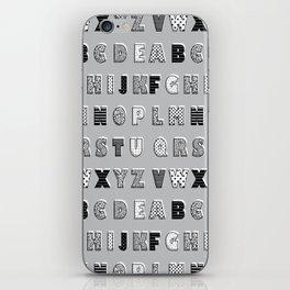 ABC Gray iPhone Skin