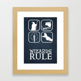 Wizards Rule Framed Art Print