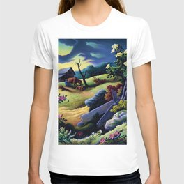 Classical Masterpiece 'June Morning, 1945' by Thomas Hart Benton T-shirt