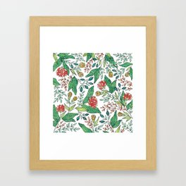 Wildflower Pattern - Full Color Framed Art Print