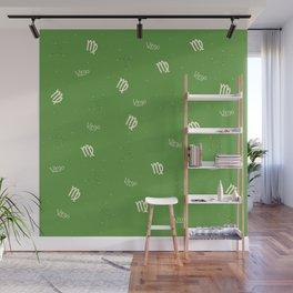 Virgo Pattern - Green Wall Mural