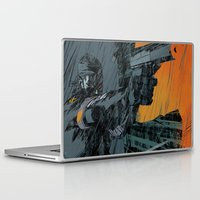metal gear Laptop & iPad Skins featuring METAL GEAR Ground Zeroes by Toni Infante