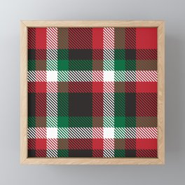 Christmas Plaid Tartan Checkered Pattern Framed Mini Art Print