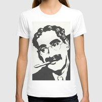 marx T-shirts featuring Mr. Marx Acrylic Pop Art by Kathryn Price