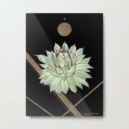 Sempervivum Eye 03 Metal Print