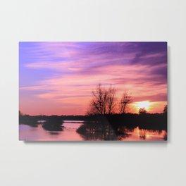 Pink Sky at Dusk Metal Print