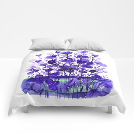 Floral Charm No.1A by Kathy Morton Stanion Comforters