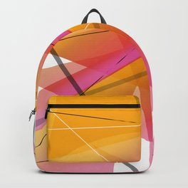Cranberry Orange Geometric Abstract Art Backpack