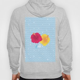 Hibiscus and Thunderhead reflected on the wave_YR Hoody