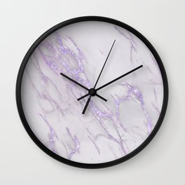 Ultra Violet Marble Wall Clock
