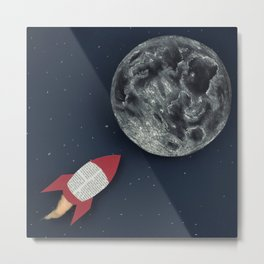 Rocket to the Moon Metal Print