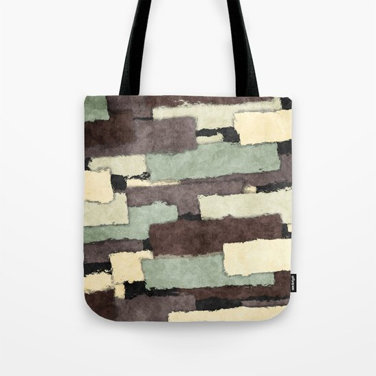 Textured Layers Abstract Tote Bag