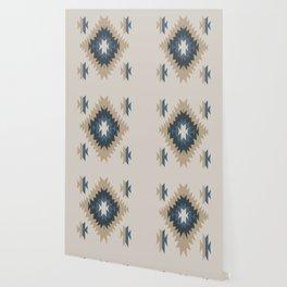Santa Fe Southwest Native American Indian Tribal Geometric Pattern Wallpaper
