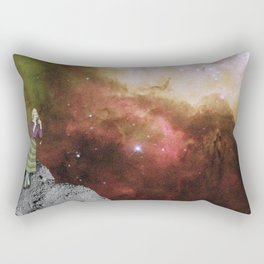 Lady in Space III Rectangular Pillow