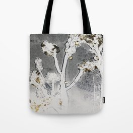 Gray Sky Yellow Flower Tote Bag