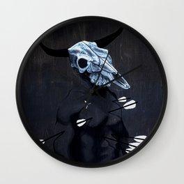 Bull with Arrows Wall Clock