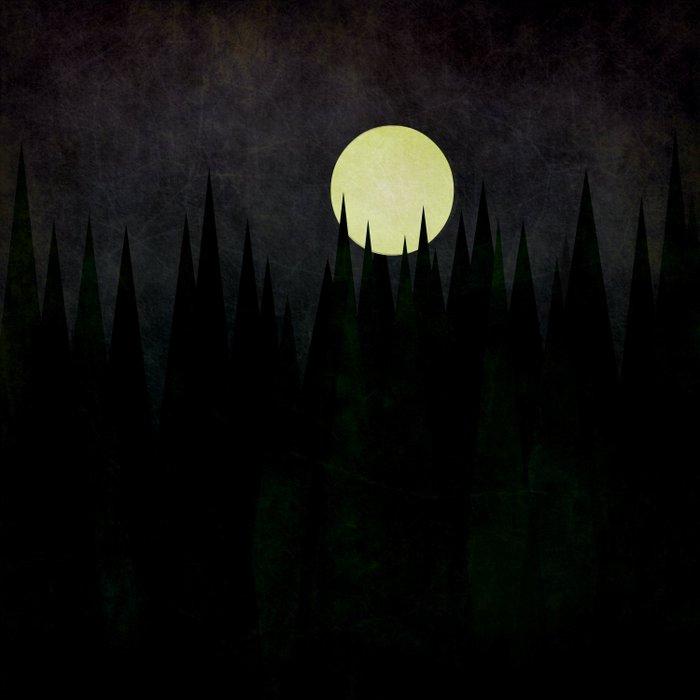 A Moonlit Forest Duvet Cover
