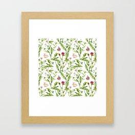 Easter Bunny Garden Framed Art Print