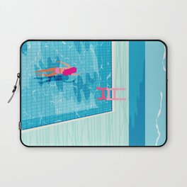 In Deep - memphis throwback swimming athlete palm springs resort vacation country club infinity pool Laptop Sleeve