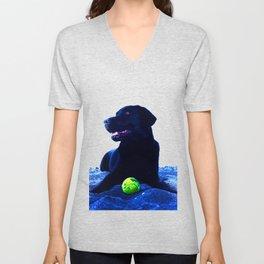 Ziggy Black Labrador Unisex V-Neck