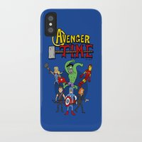 avenger iPhone & iPod Cases featuring Avenger Time by MattHercock