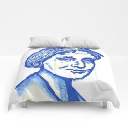 Virginia Woolf in Blue Comforters