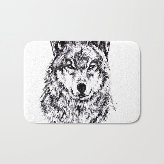 Wolf - Black 'n White Bath Mat