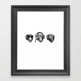 Music Monkeys Framed Art Print