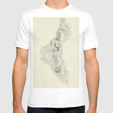 The Fertile Land in One's Imagination White MEDIUM Mens Fitted Tee