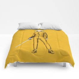 The Bride without a face (Kill Bill) Comforters