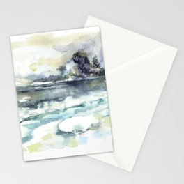 Siberia. Winter landscape / Watercolor. Stationery Cards