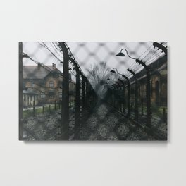 Auschwitz-Birkenau Camp Metal Print