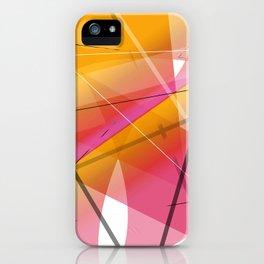 Cranberry Orange Geometric Abstract Art iPhone Case
