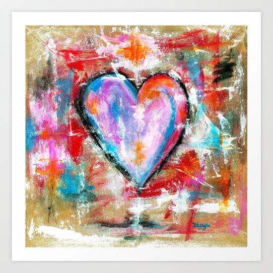 Reckless Heart, Abstract Painting Art Print