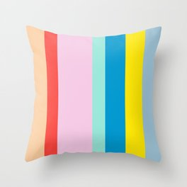 the color of summer stripes Throw Pillow